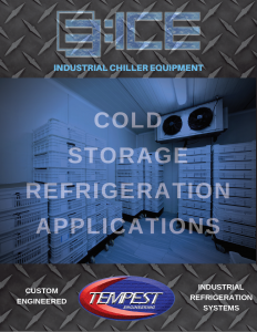 Cold Storage Refrigeration Chillers - Tempest Engineering