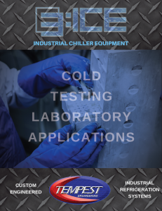 Cold Testing Laboratories & R&D Chillers - Tempest Engineering