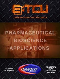 Pharmaceutical TCUs - Tempest Engineering