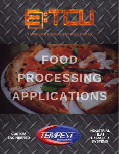Food Processing TCUs - Tempest Engineering