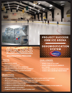 OBM Ice Rink Dehumidifcation - Tempest Engineering