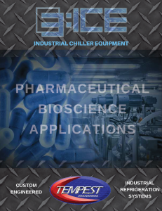 Pharmaceutical Chillers - Tempest Engineering