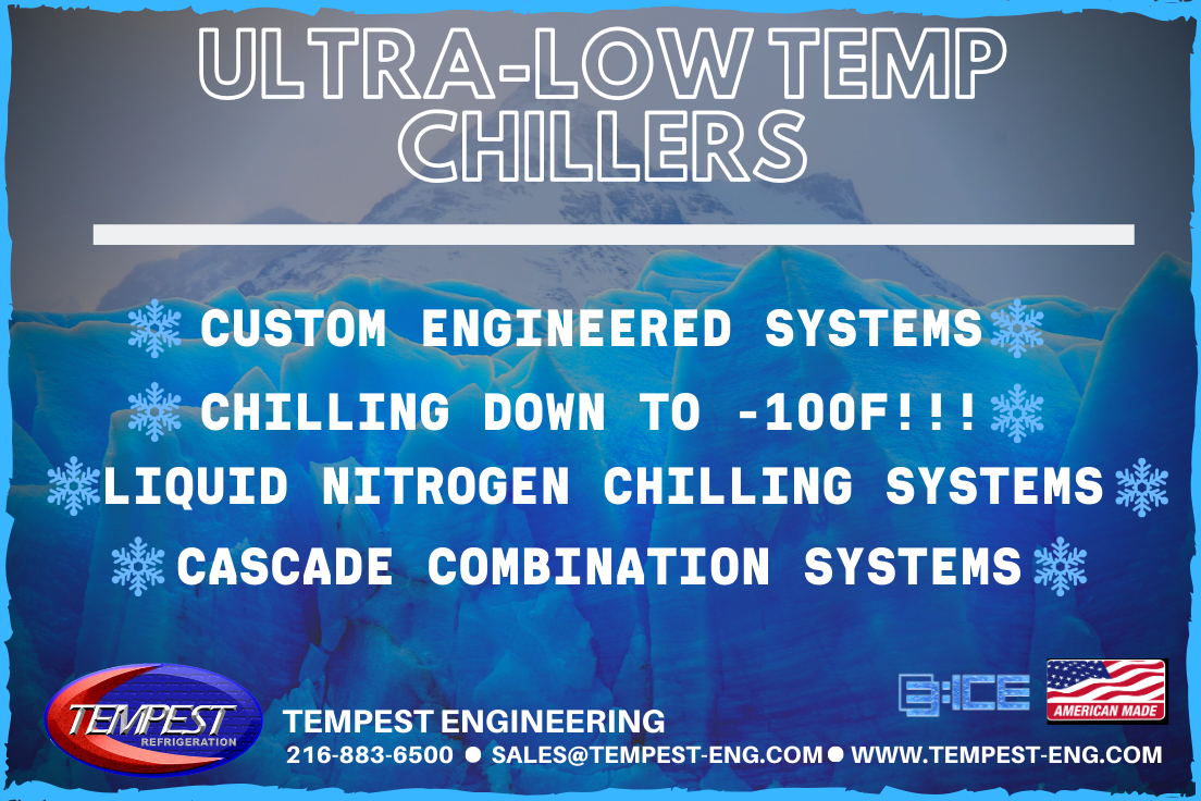 Tempest Engineering - Ultra-Low Temperature Chillers