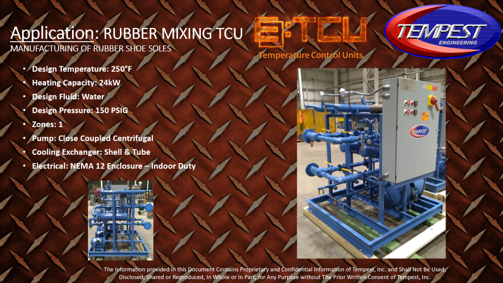 1-Zone 24kW Industrial TCU for Rubber Shoe MFG - Tempest Engineering