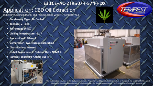 2-Ton CBD Extraction Chiller using Syltherm XLT - Tempest Engineering
