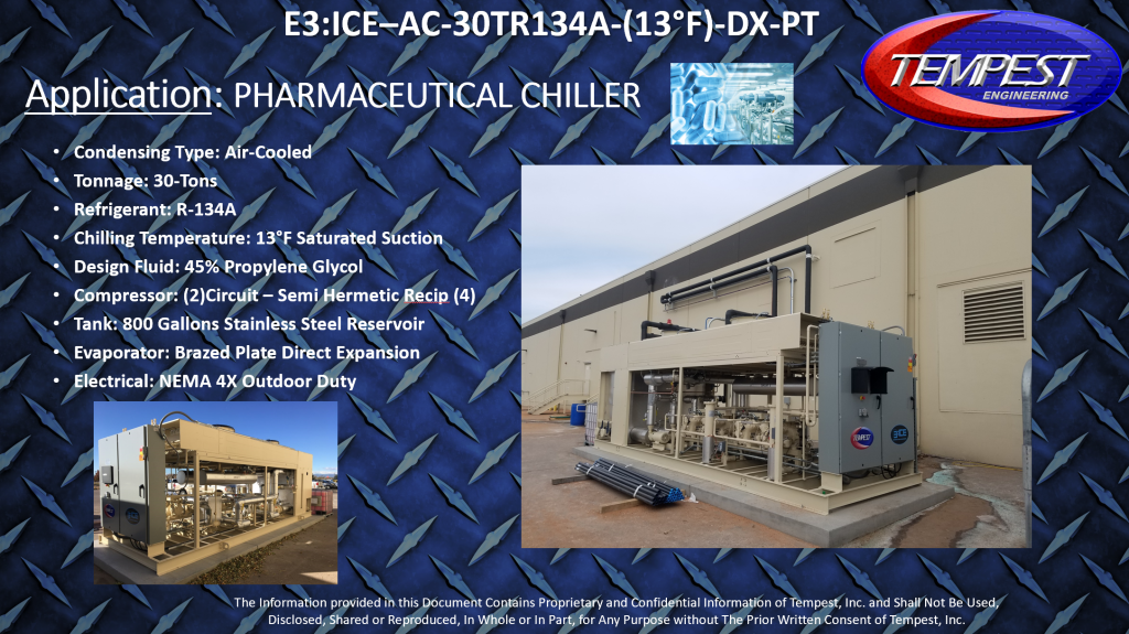 30-Ton Pharmaceutical Chiller - Tempest Engineering