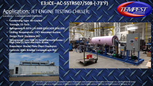 55-Ton Air-Cooled Jet Engine Testing Chiller - Tempest Engineering