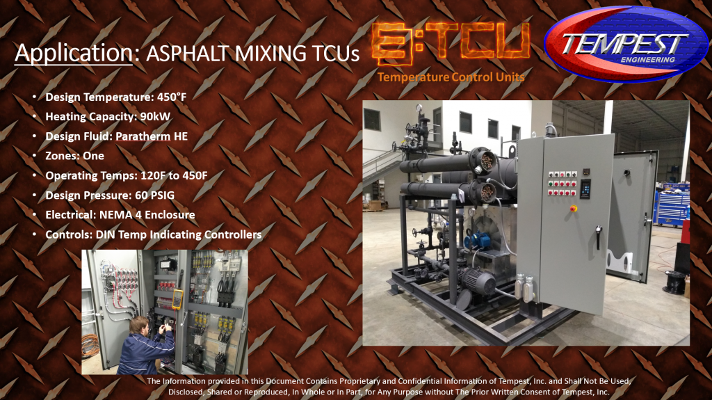 90kW 450F Hot Oil TCU - Tempest Engineering