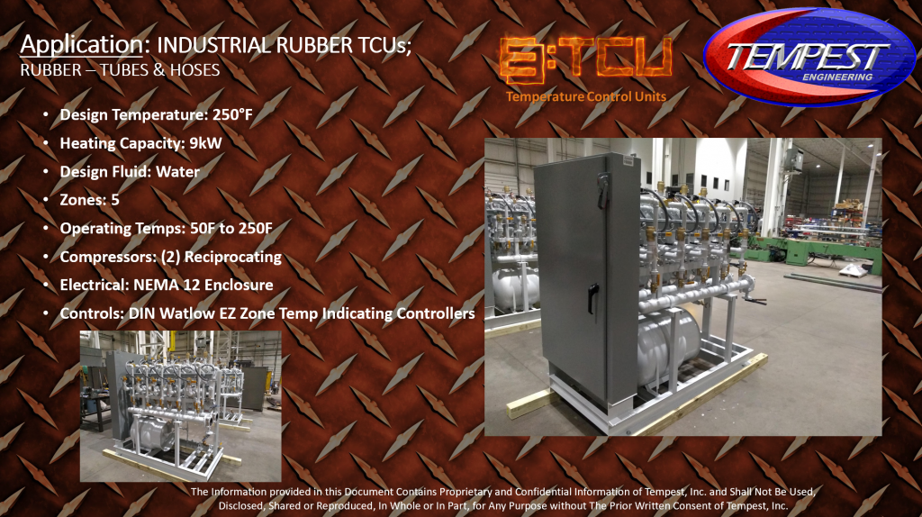 9kW Hot Water Industrial Rubber TCU - Tempest Engineering