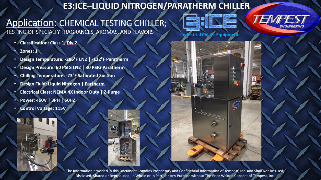Liquid Nitrogen & Parathem Ultra Low Temperature Chiller - Tempest Engineering