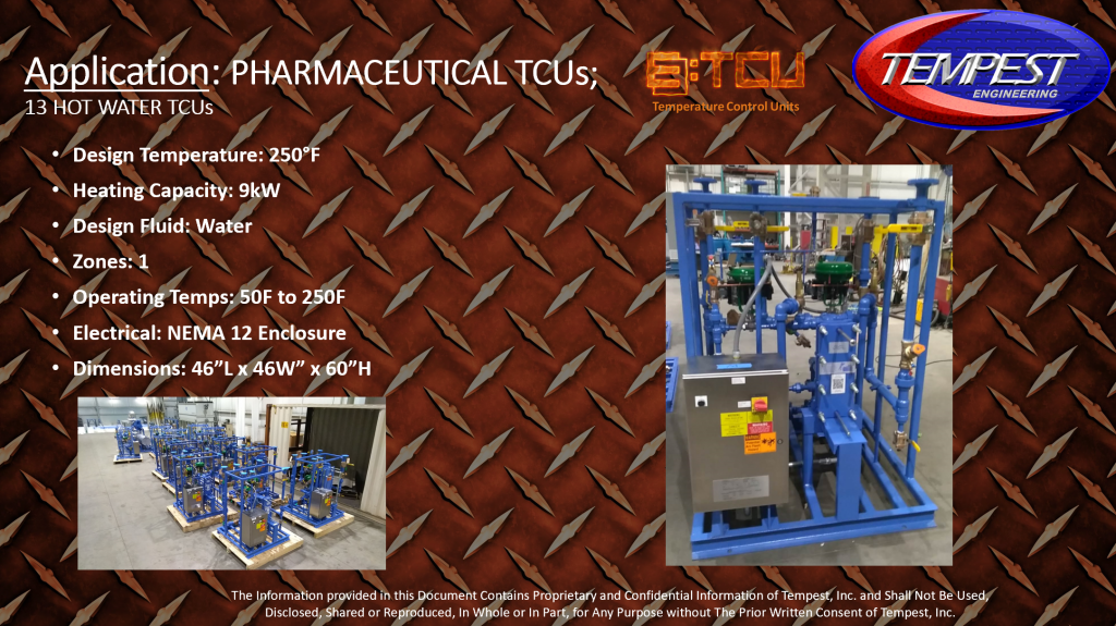 Tempest Single Zone TCUs for Pharmaceutical