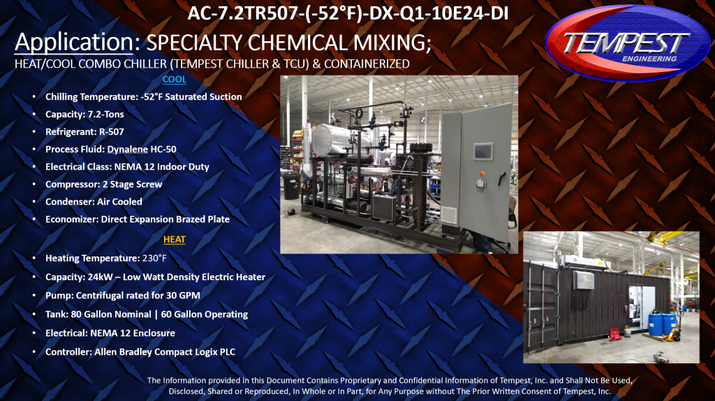 Chiller & TCU Combo System - Process Heating and Cooling
