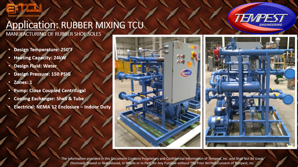 1-Zone 24kW Rubber Processing TCU - Tempest