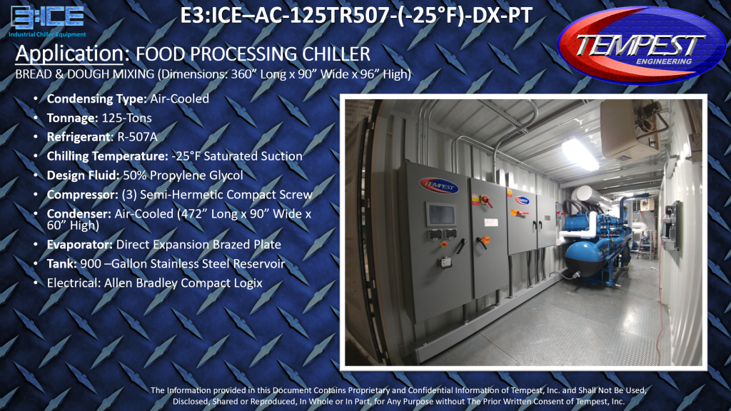 125-Ton Air Cooled -25F Containerized Chiller - Tempest
