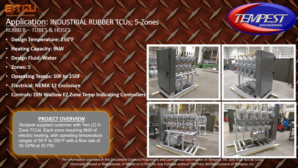 5-Zone 9kW Rubber Processing TCU - Tempest