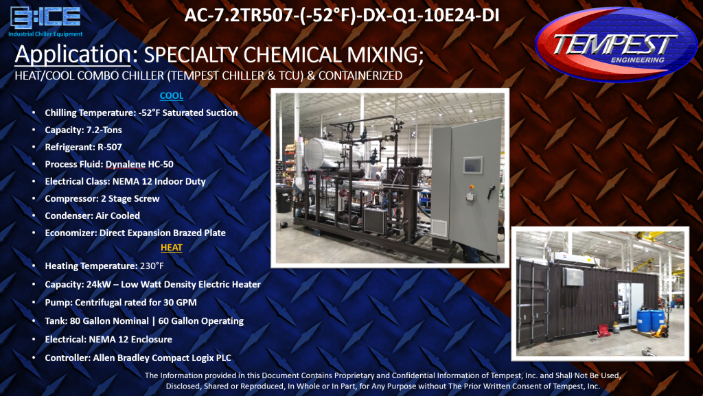 7.2-Ton Air Cooled Containerized Chiller & TCU - Tempest