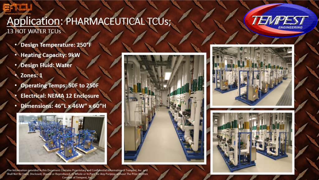 13 TCUs 1-Zone for Pharmaceutical Processing - Tempest