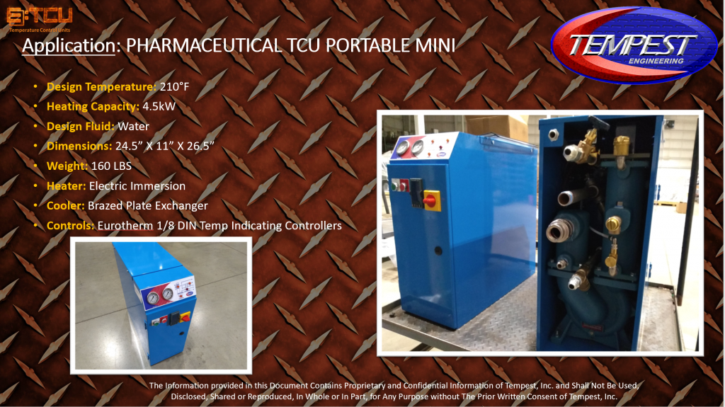 4.5KW TCU Mini Pharmaceutical Processing - Tempest