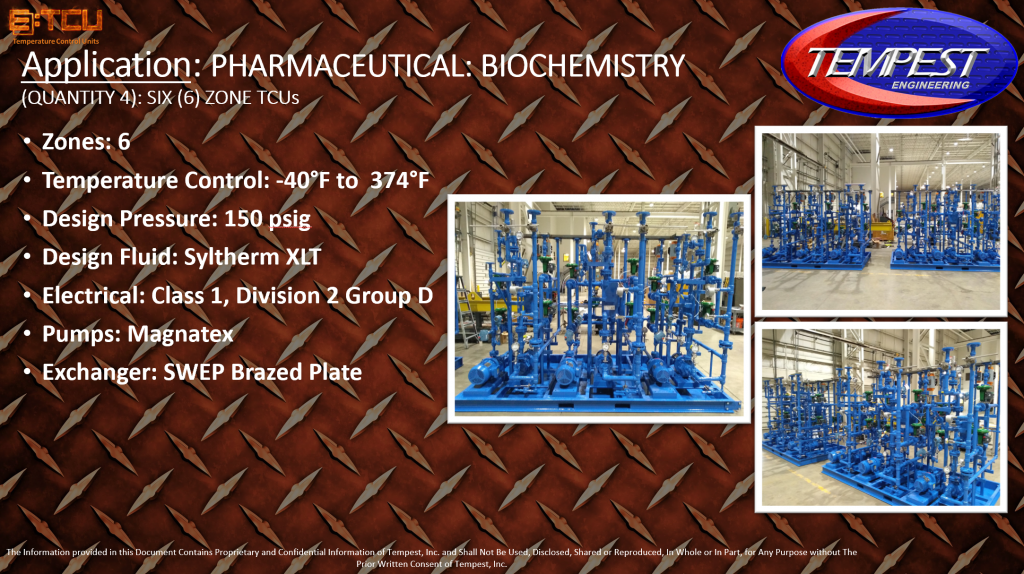 TCU Six (6) Zone Extreme Temp for Pharmaceutical Biochemistry Application - Tempest Engineering